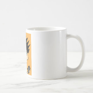 spike kid cartoon face coffee mug