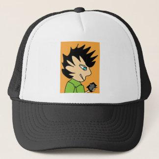 spike kid cartoon face trucker hat
