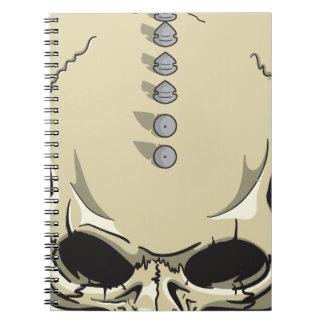 Spike Skull Spiral Notebook