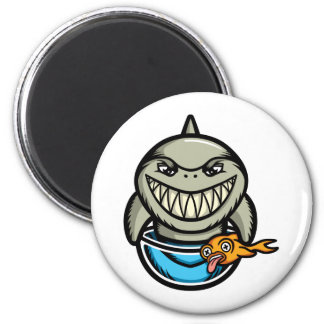 Spike the Shark 2 Inch Round Magnet