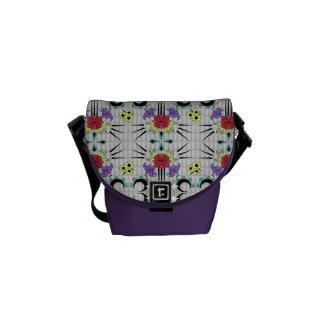 Spiked Floral Messenger Bag