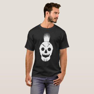 Spiked Mohawk with Cracked Skull T-Shirt