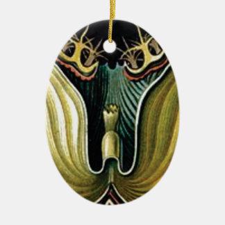 spikes in flower heart ceramic ornament