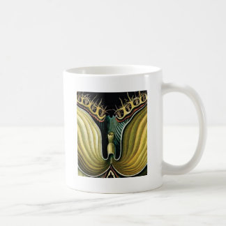 spikes in flower heart coffee mug