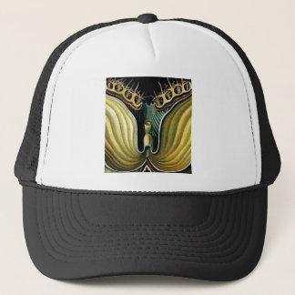 spikes in flower heart trucker hat