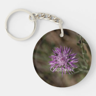 Spiky Clover; Customizable Single-Sided Round Acrylic Keychain