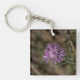 Spiky Clover; No Text Single-Sided Square Acrylic Keychain