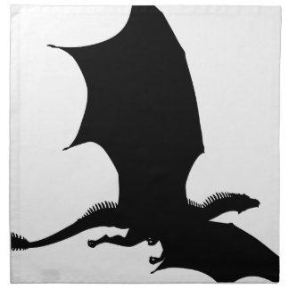 Spiky Dragon Silhouette Napkin