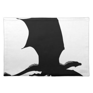 Spiky Dragon Silhouette Placemat