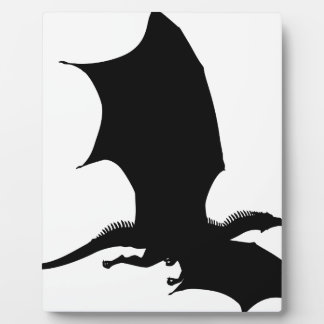 Spiky Dragon Silhouette Plaque