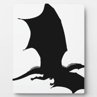 Spiky Dragon Silhouette Plaque