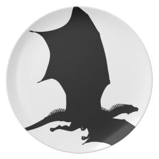 Spiky Dragon Silhouette Plate