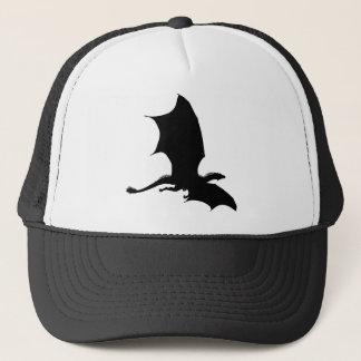 Spiky Dragon Silhouette Trucker Hat