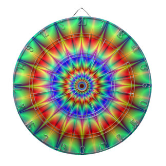 Spiky Psychedelic Rings Dartboard