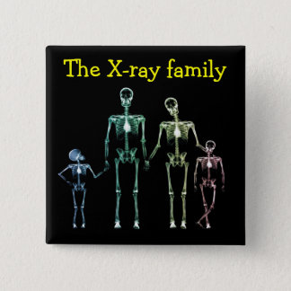 Spilla xray family 2 inch square button