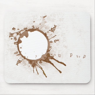 Spilled coffee Mousepad
