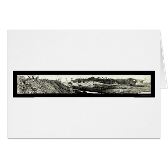 Spillway Panama Canal Photo 1913 Card
