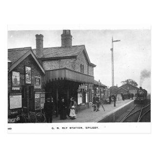 Spilsby Railway Station Vintage Postcard
