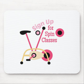 Spin Classes Mouse Pad