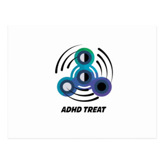 Spin Storm  Toy Hand Spinner  ADHD Awareness Postcard