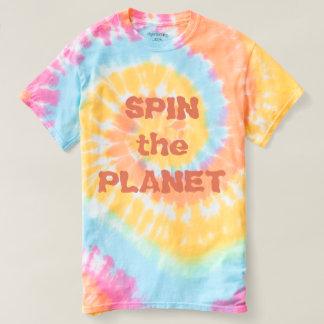 Spin the Planet Pastel Ladies Tie Dye T-Shirt