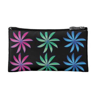 Spin wheel flowers makeup bag