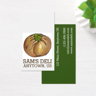 Spinach Knish Jewish Deli Food Cooking Restaurant Business Card