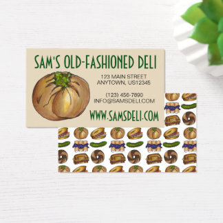 Spinach Knish Jewish Deli Restaurant Knishes Food Business Card