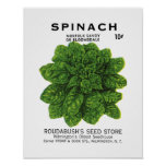 Spinach Seed Packet Label Poster