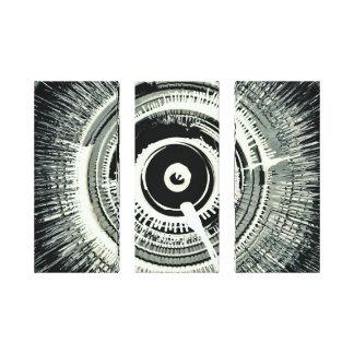 Spinart! Super Nova Black Triptych! Canvas Print