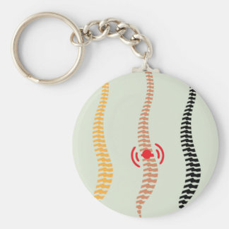 Spine Basic Round Button Keychain