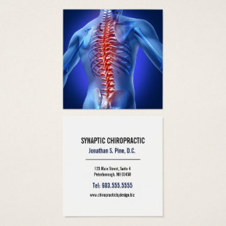 Spine Graphic Square Chiropractor Square Business Card
