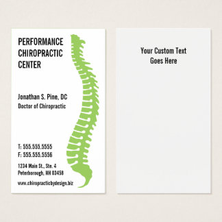 Spine Logo Chiropractor Doctor Business Cards