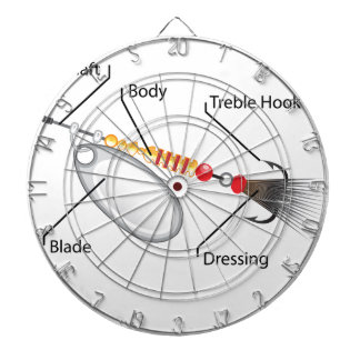 Spinner fishing lure silver blade vector dartboard