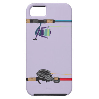 Spinning and baitcasting rods with reels handles case for the iPhone 5