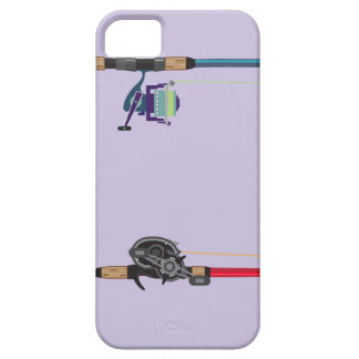 Spinning and baitcasting rods with reels handles iPhone 5 covers