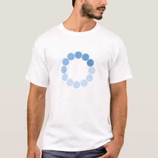 Spinning Blue Circle Light Shirt