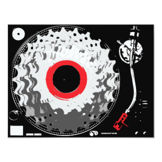"""Spinning Cogs 4.25"""" X 5.5"""" Invitation Card"""