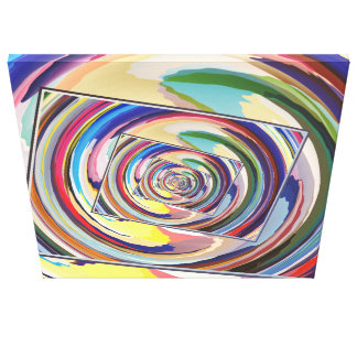 Spinning Colors Abstract Canvas Print