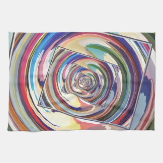 Spinning Colors Abstract Towels