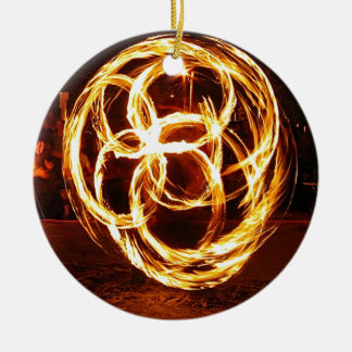 Spinning Fire - Celtic Knot Ceramic Ornament