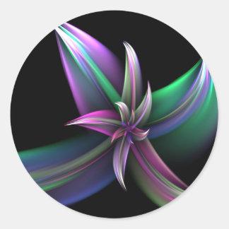 Spinning Flower Sticker