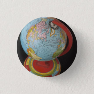 Spinning Globe 1 Inch Round Button