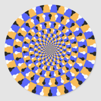 Spinning Illusion Classic Round Sticker