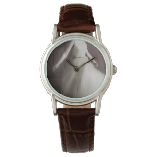Spinning lady bell watch