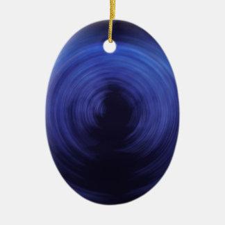 Spinning Lights Ceramic Oval Ornament