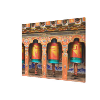 Spinning Prayer Wheels Canvas Print