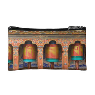 Spinning Prayer Wheels Makeup Bag