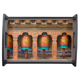 Spinning Prayer Wheels Serving Tray