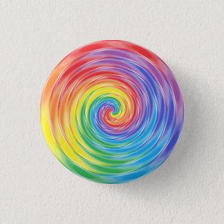 Spinning Rainbow 1 Inch Round Button